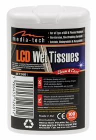 Media-Tech MT2601 LCD tisztító nedves törlőkendő