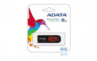 ADATA C008 8 GB USB 2.0 fekete pendrive (AC008-8G-RKD)