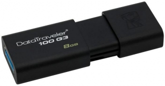 Kingston DT100G3 8 GB USB 3.0 fekete pendrive (DT100G3/8GB)
