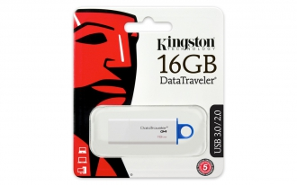 Kingston DTIG4 16 GB USB 3.0 kék-fehér pendrive (DTIG4/16GB)