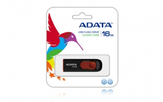 ADATA C008 16 GB USB 2.0 fekete pendrive (AC008-16G-RKD)