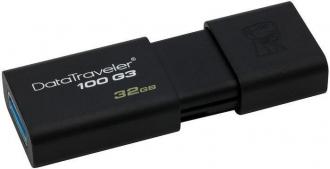 Kingston DT100G3 32 GB USB 3.0 fekete pendrive (DT100G3/32GB)