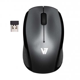 V7 MV3050200-8EB wireless optikai ezüst-fekete egér