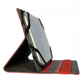 V7 Univ Slim Folio Case 8'' Piros (TUC-8-RED-14E)