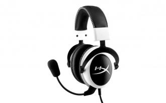 Kingston Hyperx Cloud fehér-fekete mikrofonos gamer fejhallgató(KHX-H3CLW)