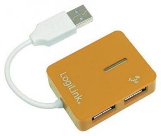 LogiLink ''Smile'' USB2.0 4-port HUB sárga (UA0137 )