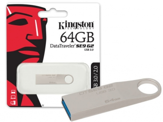 Kingston DataTraveler SE9 G2 USB 3.0 64 GB Ezüst pendrive (DTSE9G2/64GB)