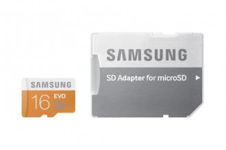 Samsung EVO 16 GB MicroSD memóriakártya + SD Adapter (MB-MP16DA/EU)