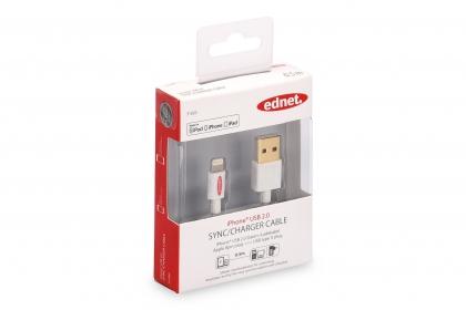 EDNET 31020 APPLE CHARGER/DATA Kábel 8PIN USB 2.0