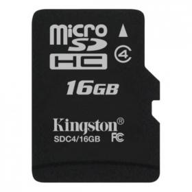 Kingston Micro SDHC 16GB Class 4 adapter nélküli memóriakártya (SDC4/16GBSP)