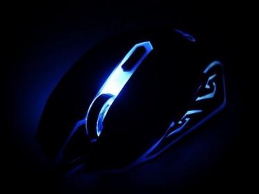 Gembird MUSG-001-B USB optikai fekete-kék gamer egér