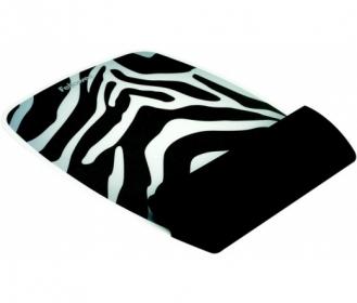 Fellowes  9362301 szilikon csuklótámaszos ''zebra''egérpad