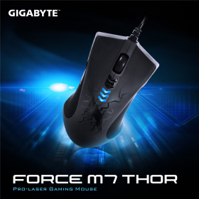 GIGABYTE FORCE M7 THOR USB lézer fekete gamer egér (GM-FORCE M7 THOR)