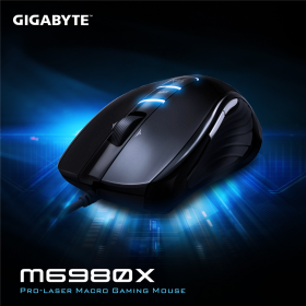 GIGABYTE M6980X USB lézer gamer fekete egér  (GM-M6980X)