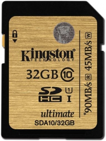 KINGSTON SDHC 32GB CLASS 10 UHS-I Memóriakártya (SDA10/32GB)