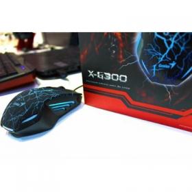 Genius X-G300 USB optikai fekete gamer egér (31040001100)
