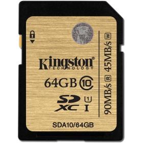 KINGSTON Memóriakártya SDXC 64GB CLASS 10 UHS-I (SDA10/64GB)