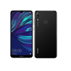 HUAWEI Y7 2019 32GB Dual SIM fekete okostelefon (51093WDD)