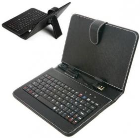 Genius LuxePad A120 micro USB angol billentyűzet fekete tokkal (31310061101)