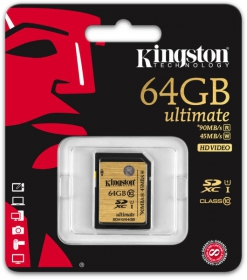 KINGSTON Memóriakártya SDXC 64GB CLASS 10 UHS-I (SDA10/64GB)