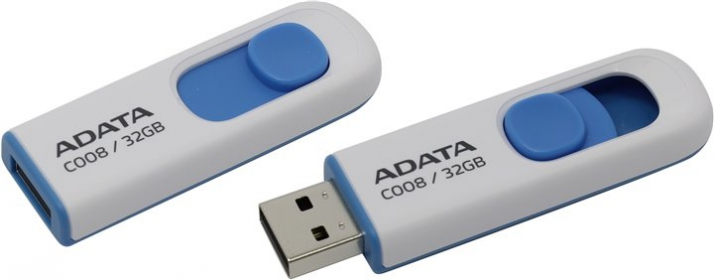 ADATA C008 32GB Pendrive Fehér-Kék (AC008-32G-RWE)