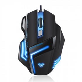 Aula SI-989 Ghost Shark USB optikai fekete-kék gamer egér