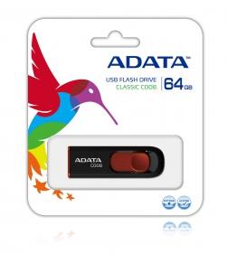 ADATA C008 64GB Pendrive Fekete-Piros (AC008-64G-RKD)