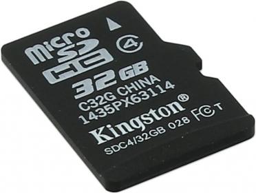 Kingston Micro SDHC 32GB Class 4 adapter nélküli memóriakártya (SDC4/32GBSP)