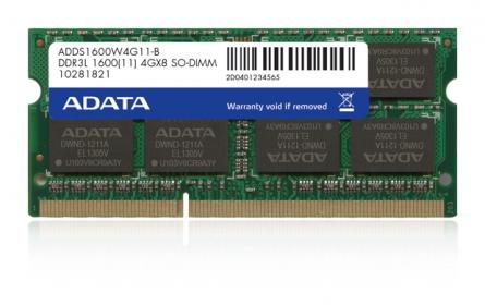 ADATA DDR3L 8GB 1600MHz CL11 SODIMM 1.35V (ADDS1600W8G11-R)