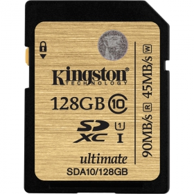 Kingston 128GB SDXC Class 10 UHS-I Ultimate memóriakártya (SDA10/128GB)
