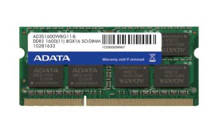 ADATA DDR3 8GB 1600MHz CL11 SODIMM 1.5V (AD3S1600W8G11-R)