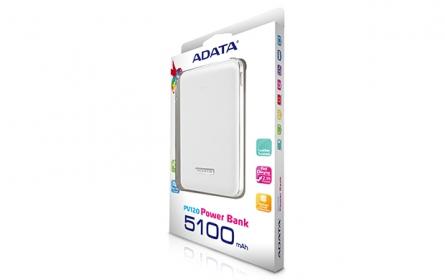 ADATA PV120 Power Bank Fehér (APV120-5100M-5V-CWH)
