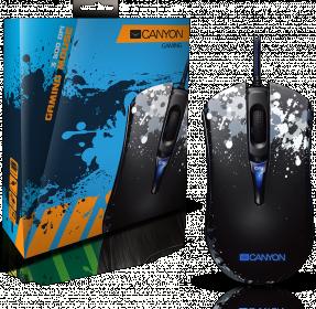 CANYON  Paintball SGM8 USB optikai fekete-szürke gamer egér (CND-SGM8)