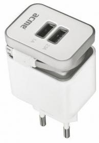 Acme ACHTCH17 2xUSB micro USB kábellel hálózati töltőfej