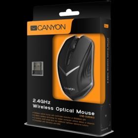 CANYON CNE-CMSW3 wireless optikai fekete egér (CNE-CMSW3)