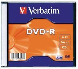 Verbatim DVDV-16V1 AZO, 4,7GB, 16x, vékony tokos írható DVD-R lemez