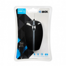 I-BOX i2909 USB optikai led fekete egér (IMOF2909U)