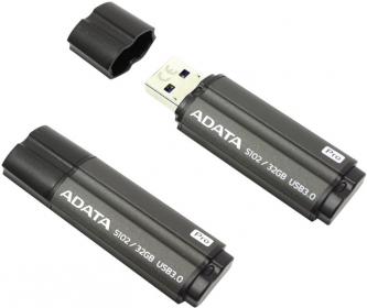 ADATA S102 Pendrive 32GB Titanium Szürke (AS102P-128G-RGY)