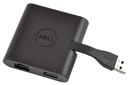 Dell DA100 Adapter USB 3.0 to HDMI/VGA/Ethernet/USB 2.0 (492-BBNU)