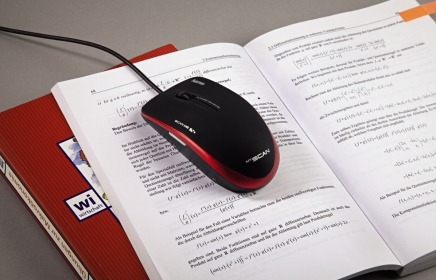 HAMA MYSCAN USB optikai piros-fekete szkenner egér (52343)