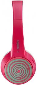 RAPOO S100 bluetooth mikrofonos pink-zöld headset (155497)