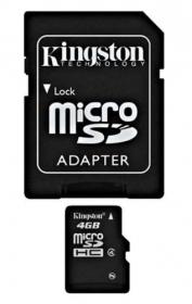 KINGSTON Memóriakártya 4GB + Adapter (SDC4/4GB)