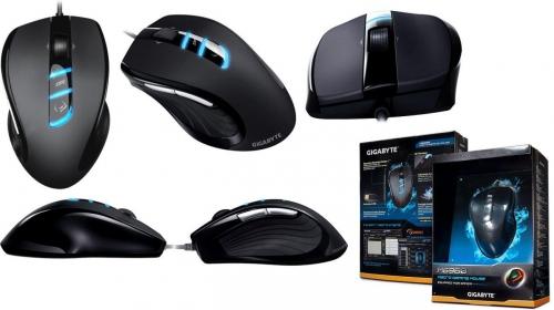 GIGABYTE M6980 USB lézer fekete gamer egér (GM-M6980)