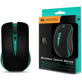 CANYON CNS-CMSW6 wireless optikai fekete-zöld egér (CNS-CMSW6G)