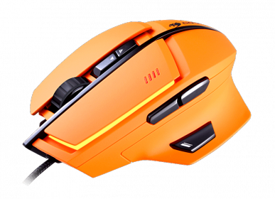 COUGAR 600M USB lézer narancs gamer egér (3M600WLO.0001)