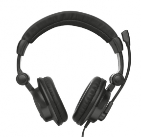 TRUST COMO mikrofonos fekete fejhallgató (16659)