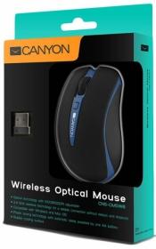 CANYON CNS-CMSW6 wireless optikai fekete-kék egér (CNS-CMSW6BL)