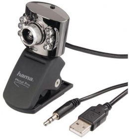 Hama Metal Pro fekete-ezüst mikrofonos webkamera (62828)