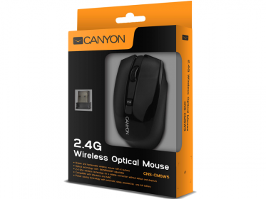 CANYON CNS-CMSW5 wireless optikai fekete egér (CNS-CMSW5B)