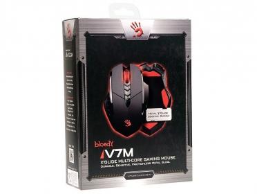 A4-Tech Bloody V7M USB lézer fekete gamer egér